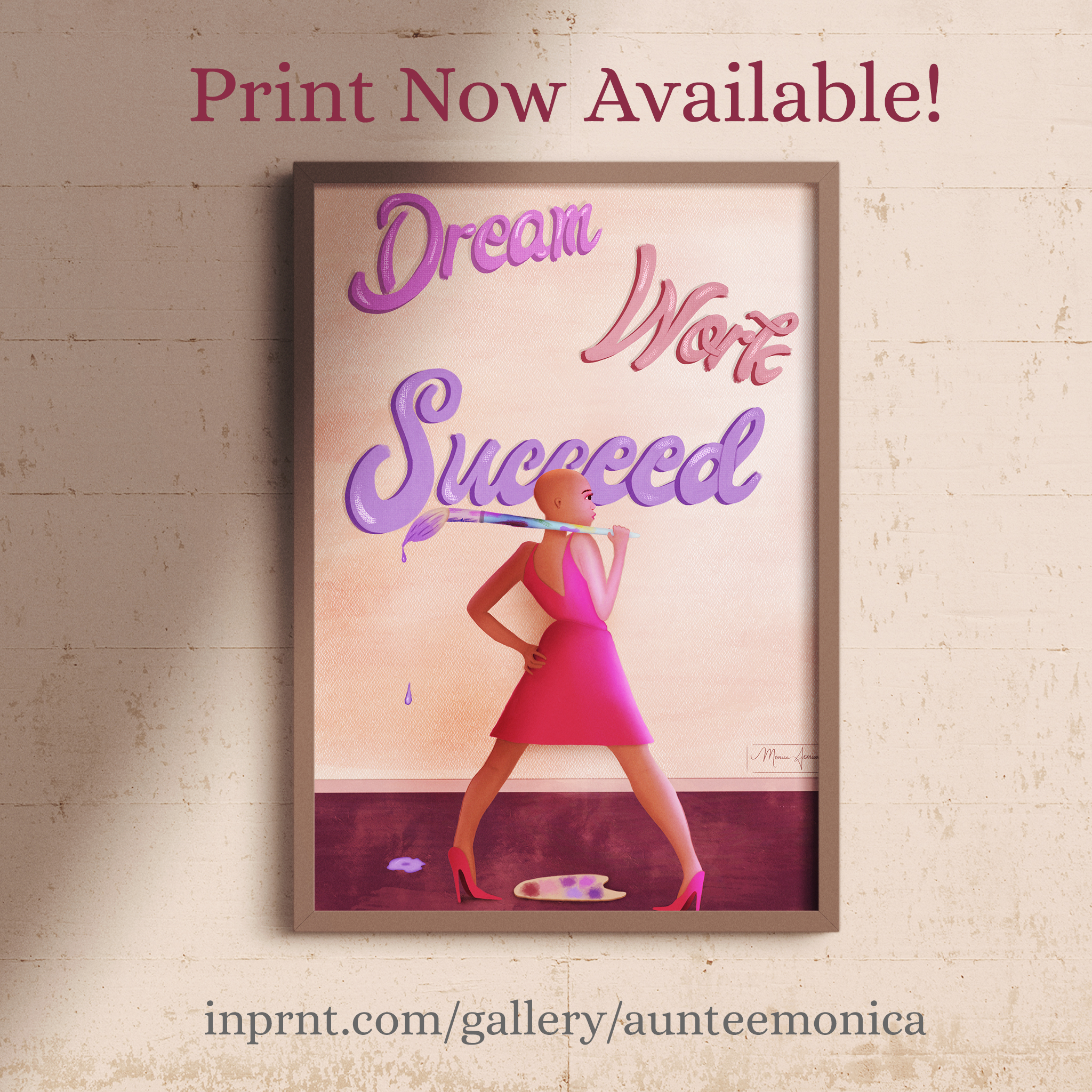 Dream-Work-Succeed-Frame