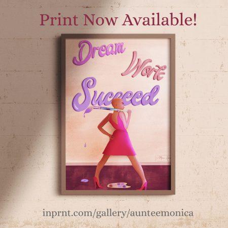 Dream-Work-Succeed-Frame